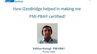 Participant - Vaibhav Rastogi : Certified Professional in Business Analysis - PMI-PBA®