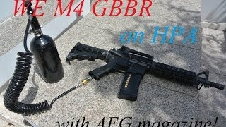 getlinkyoutube.com-Custom WE M4 CQB (air blowback)