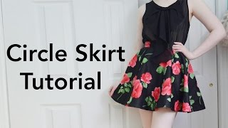 getlinkyoutube.com-How to Make a Circle Skirt : Tutorial