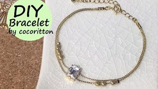 getlinkyoutube.com-DIY Accessories:Bracelet キラキラビジュー ブレスレット作り方