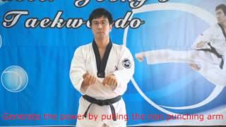 Taegeuk 1 Jang and the application (Master Jeong's Taekwondo) 태권도청지회중동도장  跆拳道 淸志會 中洞道場