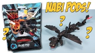 getlinkyoutube.com-Dragons Nabi Morpho Pods Head Wing Tail Toothless Opening Walmart