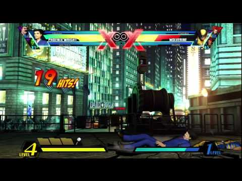 Ultimate MvC3 Assist Me: Phoenix Wright and Iron Fist