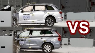 getlinkyoutube.com-2016 Volvo XC90 Vs 2017 Audi Q7 - Crash Test
