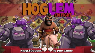 getlinkyoutube.com-Clash of Clans Deutsch | Hogrider + Golem = HOGLEM | Clan Krieg Fights