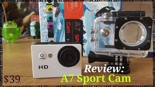 getlinkyoutube.com-A7 Sport Camera HD - Unbox y review, cámara deportiva $39 [Grabado con Samsung Galaxy S6]