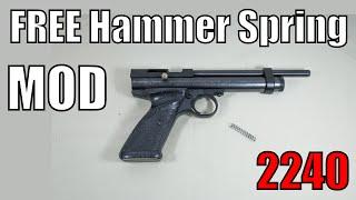 getlinkyoutube.com-Crosman 2240 - FREE Lighter Hammer Spring Mod - 90% Increase in CO2 shots - Minimal FPS Loss