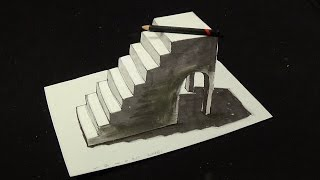 getlinkyoutube.com-Drawing Simple Stairs, 3D Illusion