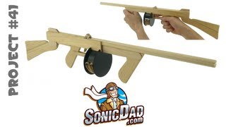 getlinkyoutube.com-How to Make a Sonic Tommy Rubber Band Gun - SonicDad Project #41