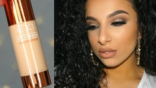 getlinkyoutube.com-EX1 Invisiwear Foundation First Impression Review | Makeup By Leyla