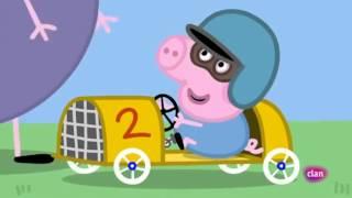 getlinkyoutube.com-El Coche de Carreras de George - Peppa Pig