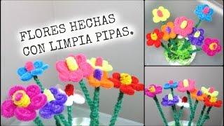getlinkyoutube.com-FLORES HECHAS CON LIMPIA PIPAS PARA EL DIA DE LAS MADRES