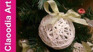 getlinkyoutube.com-Bombka z włóczki z brokatem (bauble yarn with glitter)