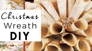 getlinkyoutube.com-Christmas Decorating - Christmas Wreath Old Book Pages