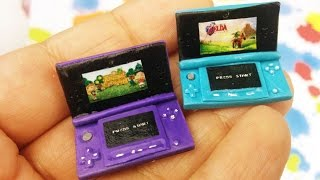 getlinkyoutube.com-DIY MINI NINTENDO 3DS Polymer Clay Tutorial- How to make 3ds for dolls