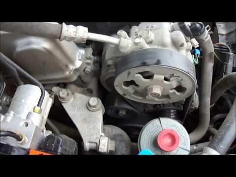 Расположение у Honda Аккорд компрессора кондиционера