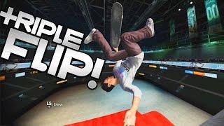 getlinkyoutube.com-Skate 3 Xbox One: TAILWALK TRIPLE FLIP LANDED!