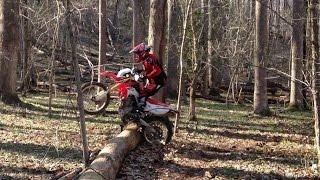 getlinkyoutube.com-Honda CRF250L - Log hopping & jumping
