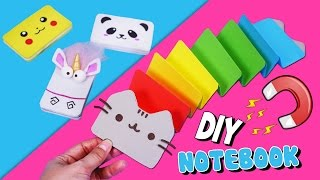 getlinkyoutube.com-DIY Fun Notebooks you NEED to try!! Cute & Easy Magnetic Notebook!  DIY School Supplies