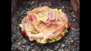 getlinkyoutube.com-Piletina i svinjetina ispod peke