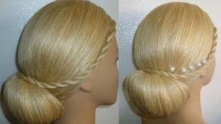 getlinkyoutube.com-Frisur mit Duttkissen/Dutt.Hochsteckfrisur.Abiballfrisur.Donut Hair Bun Updo Hairstyle.Peinados