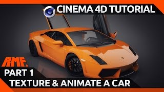 getlinkyoutube.com-Cinema 4D Tutorial - Texturing and Animating a Car Model - Part 1