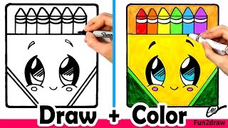 getlinkyoutube.com-How to Draw a Crayon Box Cute + Easy