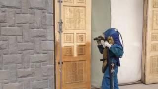 Piaskowanie zabytkowych drewnianych drzwi