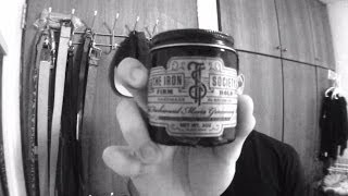getlinkyoutube.com-Iron Society Firm Hold Pomade Review & Styling