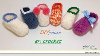 getlinkyoutube.com-Cómo tejer zapatitos o patucos de bebé en crochet