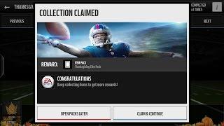 getlinkyoutube.com-Thanksgiving Elite Player Reward Pack | Madden Mobile