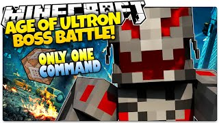 getlinkyoutube.com-Minecraft | AGE OF ULTRON! | Ultron Boss Battle | Only One Command (Minecraft Vanilla Mod)