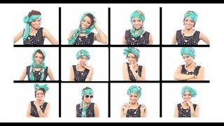 getlinkyoutube.com-12 Head Wrap Scarf Tutorials In Under 7 Minutes