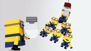 getlinkyoutube.com-Minions in Minecraft - Changing a light bulb [Minecraft Animation 2015]