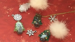 getlinkyoutube.com-UVレジン 《100均》クリスマスツリーのシリコン型でアクセサリーを作るよ resin