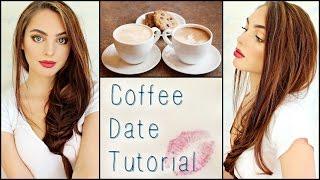 getlinkyoutube.com-Casual Coffee / 1st Date Makeup, Hair & Outfit! ☕️💕