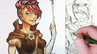 getlinkyoutube.com-Character Design Session: Medieval Steampunk Rogue!