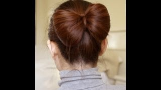 getlinkyoutube.com-Hair Bow Tutorial for Long Hair