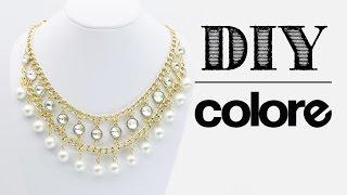 getlinkyoutube.com-DIY Collar Cadena, Perla y Octagonal | Colore Accesorios