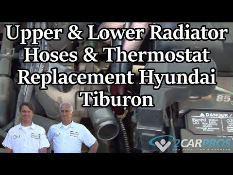 Upper & Lower Radiator Hoses & Thermostat Replacement Hyundai Tiburon 2001-2008
