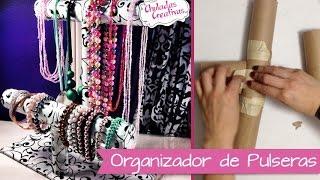getlinkyoutube.com-Chuladas Creativas :: Porta Pulseras Relojes y Collares :: Manualidades