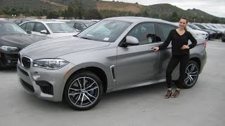 getlinkyoutube.com-ALL - NEW BMW X6 M Donington Grey / Mugello Red Leather / Exhaust Sound Review X6M