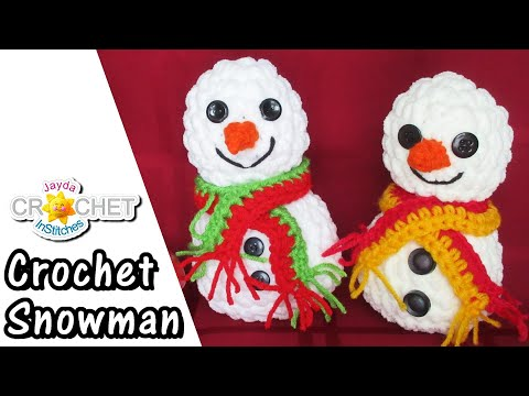 Crochet Snowman Plush