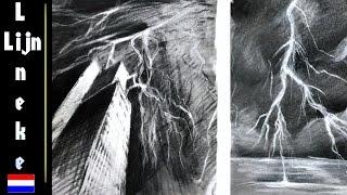 getlinkyoutube.com-Hoe teken je bliksem - handige tips / landschappen / #16