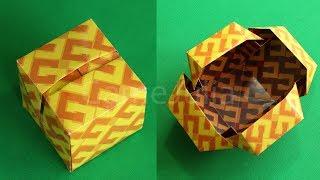 getlinkyoutube.com-Оригами Коробочка Куб из бумаги