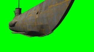 getlinkyoutube.com-WW II Submarin on green screen - free green screen