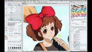 getlinkyoutube.com-Kiki [speedpaint] Manga Studio 5