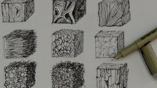 getlinkyoutube.com-Pen and Ink Drawing Tutorials | How to create realistic textures