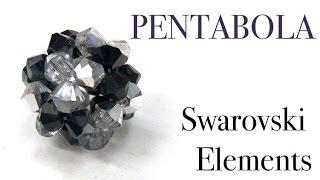 getlinkyoutube.com-Abalorios - Pendientes Pentabola de Swarovski