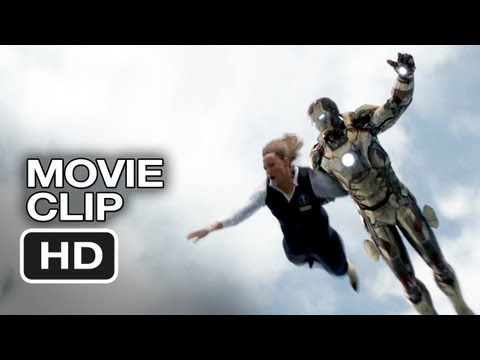 Iron Man 3 Movie CLIP - Plane Trouble (2013) - Robert Downey Jr. Superhero Movie HD